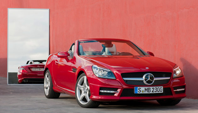 2012 Mercedes-Benz SLK top-down