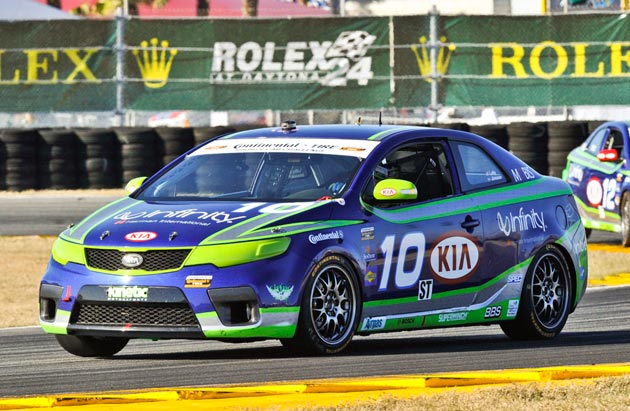 Kia Forte Koup GRAND-AM Continental Tire Sports Car Challenge race car
