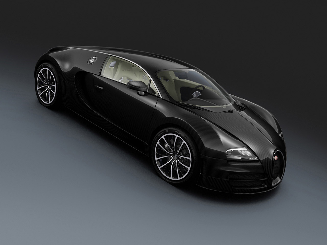 Bugatti Veyron Super Sport Black Carbon, Bugatti Veyron Grand Sport White Matt Blue Carbon