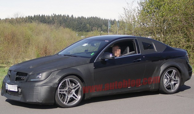 spy photo of mercedes-benz c63 amg coupe black series