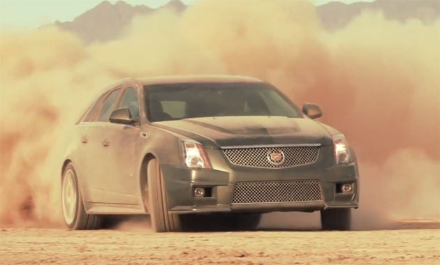 2011 Cadillac CTS-V Sportwagon in the desert