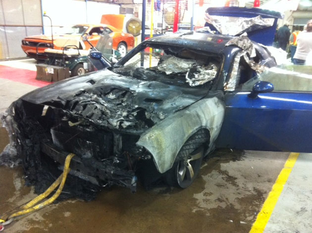 Dodge Challenger assembly line fire