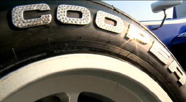 Cooper Tires' special diamond-encrusted rubber