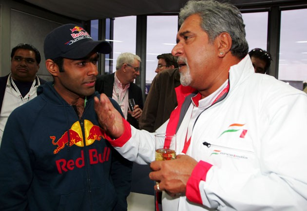Karun Chandhok and Vijay Mallya