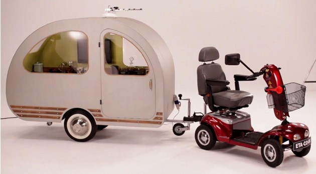 Uk Company Markets Caravan Pulled By Mobility Scooter W