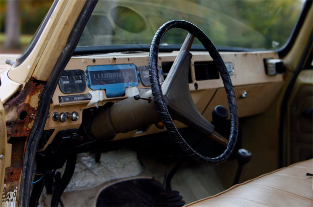 international interior and steering wheel