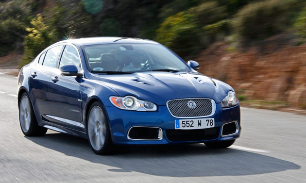 2010 Jaguar XFR in motion