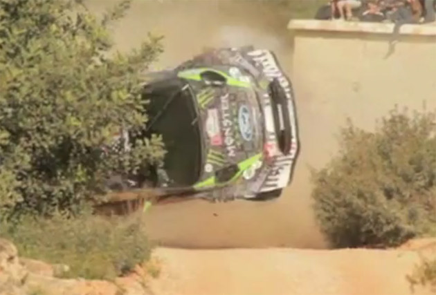 ken block wreck ford focus rally car