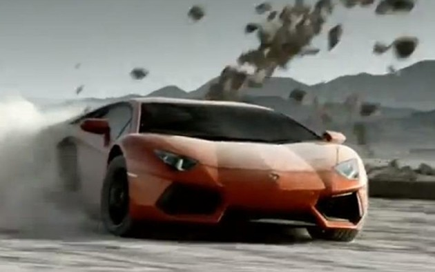 2012 Lamborghini Aventador video screencap