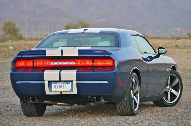 2011 Dodge Challenger SRT8 392 rear 3/4 view