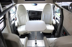 2011 Airstream Avenue rear seats