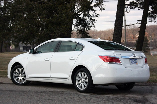 2012 Buick LaCrosse eAssist rear 3/4 view