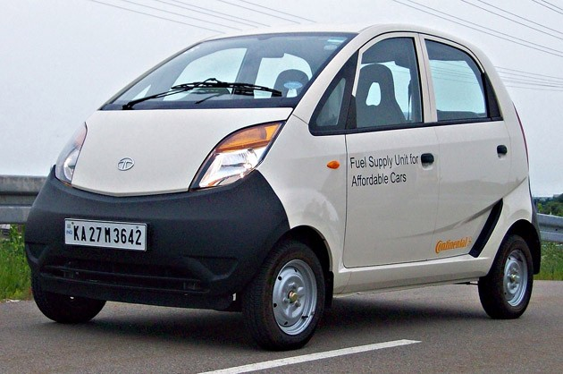 Rajasthan, India charity giveaway Tata Nano in sell for your sterilization