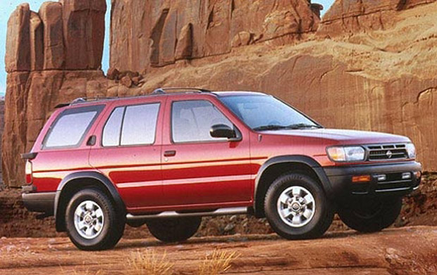 1996 nissan pathfinder se red
