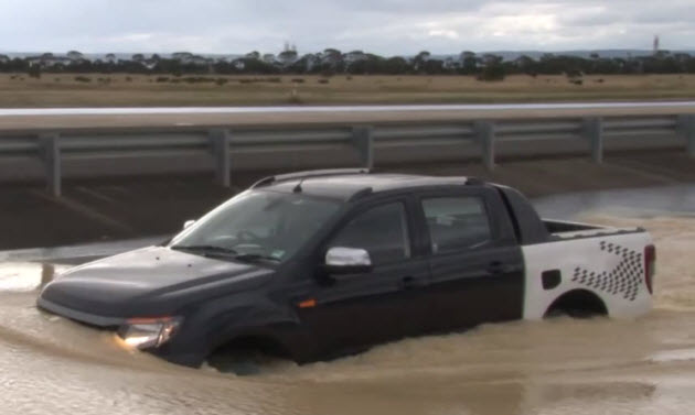 water testing the new ford ranger