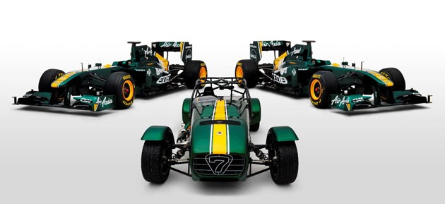 Caterham Seven Team Lotus trio