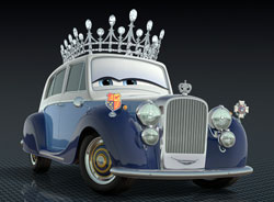 The Queen in Pixar's CARS 2