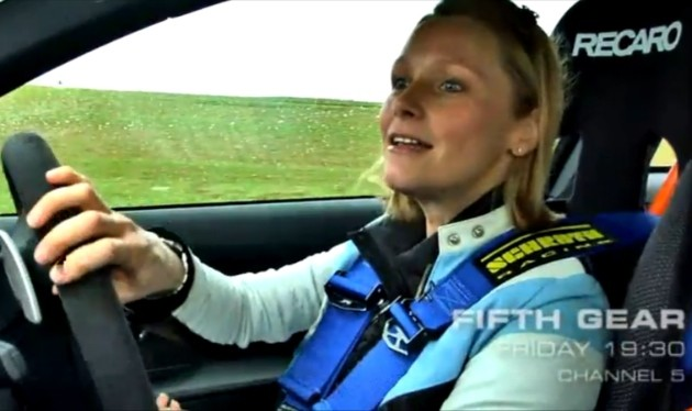 Vicki Butler-Henderson in the BMW M3 GTS
