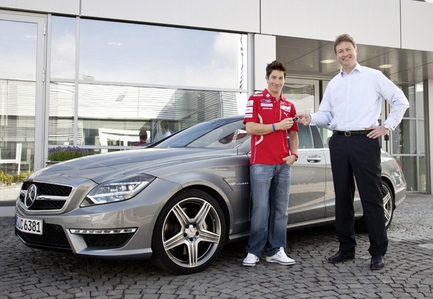 Nick Hayden and the Mercedes-Benz CLS63 AMG