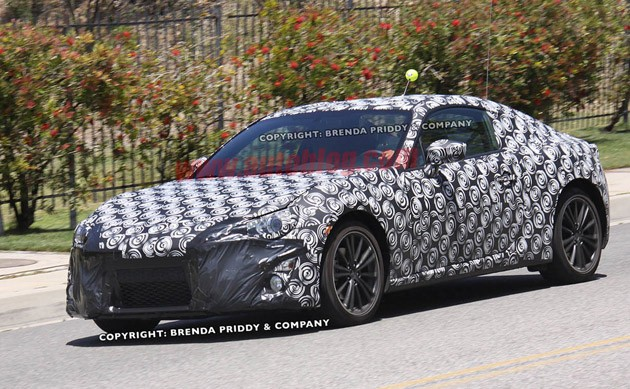 spy shots subaru coupe