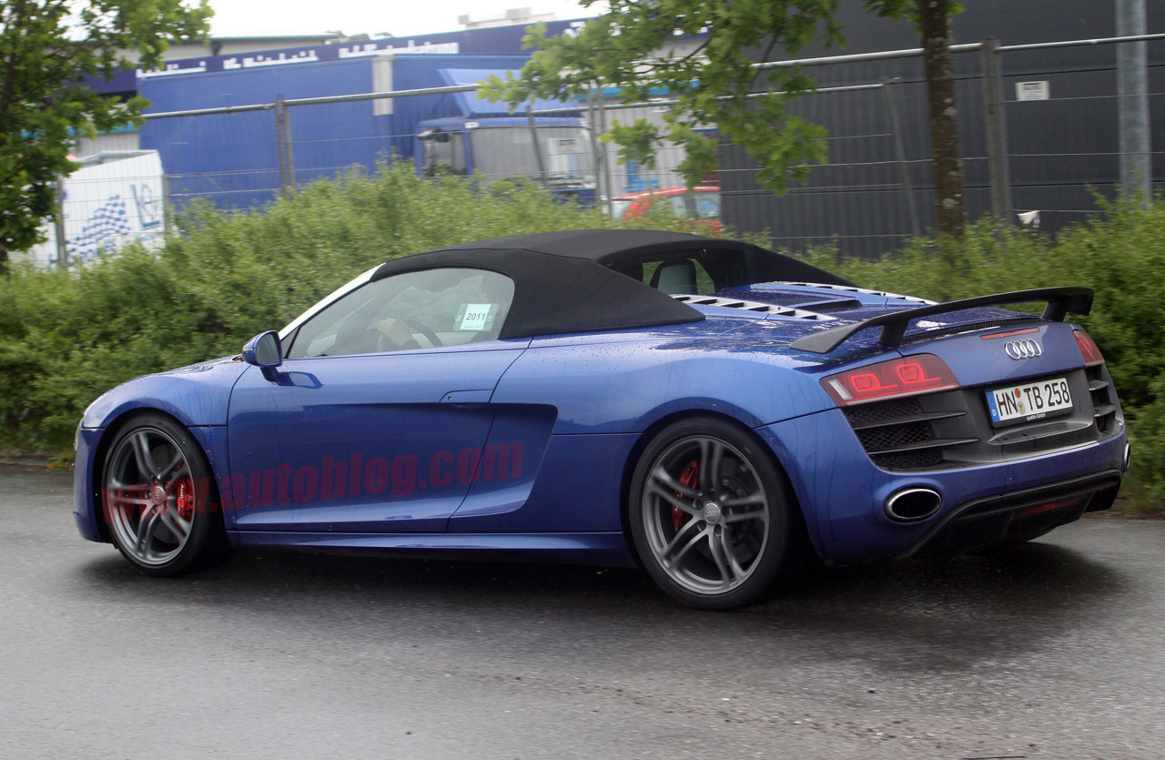 spy shots: audi r8 gt spyder almost ready to scatter toupees