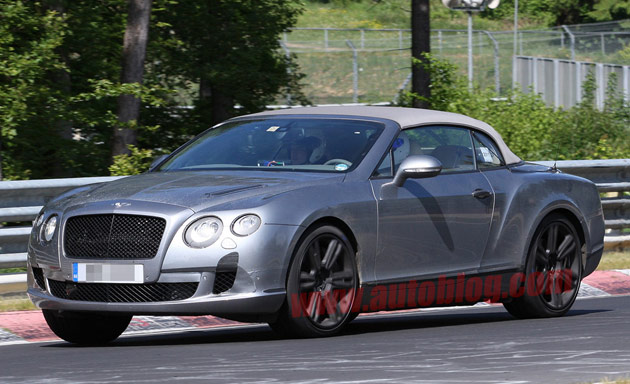 Bentley Continental GTC spy shots