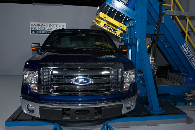 2011 Ford F-150 IIHS Full-Size Pickup Rollover Crash Test