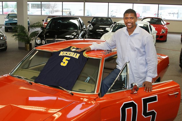 jalen rose and his 1969 dodge charger general lee