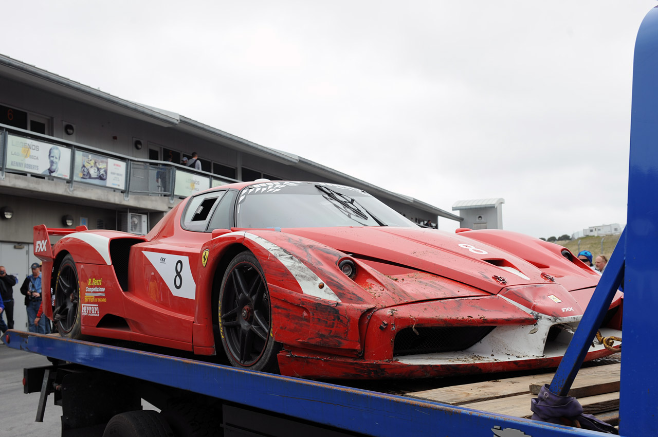 Danumatic Ferrari Fxx Crashed At Laguna Seca