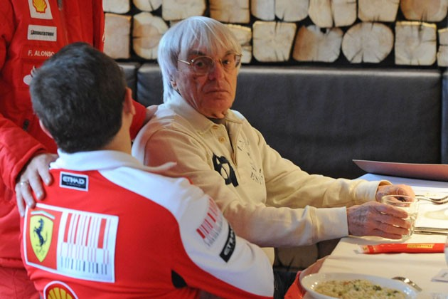 Bernie Ecclestone at Ferrari's Wroom event