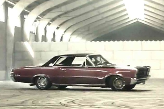 1965 Pontiac GTO does donuts