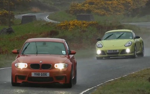 Autocar pits BMW 1 Series M Coupe against Porsche Cayman R