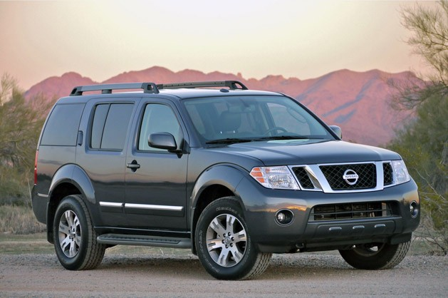 2011 Nissan Pathfinder at sunset