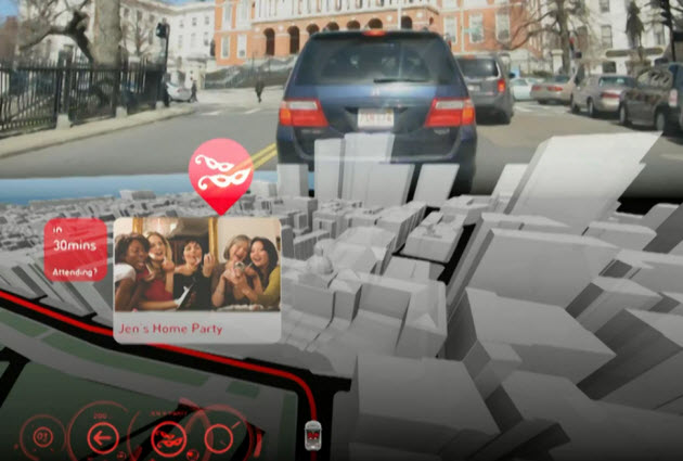 3D head-up display navigation concept