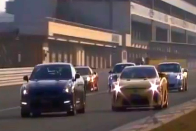 Best Motoring Fuji supercar battle