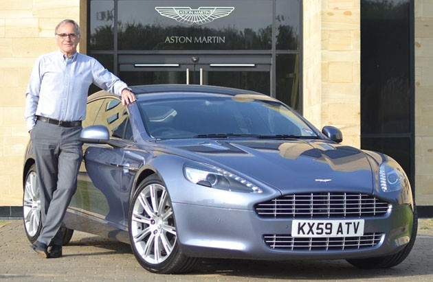 Dr. Ulrich Bez and his Aston Martin Rapide