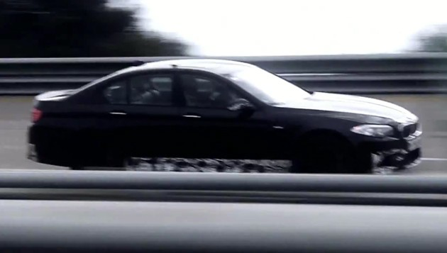 2012 BMW M5 teased again during Nardo high-speed testing