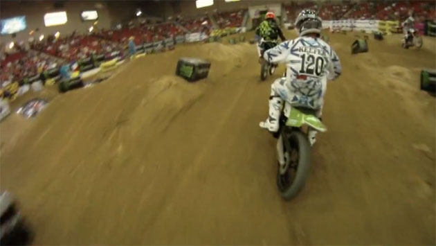 Trevor Doniak vs Kris Keefer at AMA Mini Moto SX
