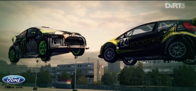 Dirt 3 Gymkhana multiplayer Ken Block Tanner Foust