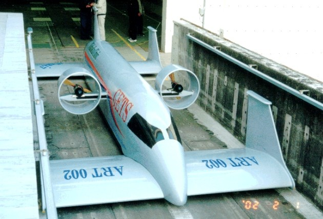 Japanese flying train concept
