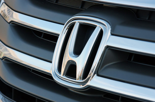 Honda grille and badge