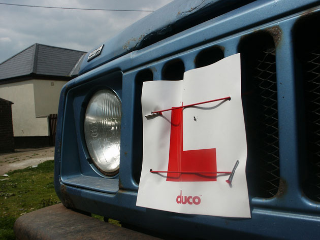 L Plate on a Suzuki Samurai