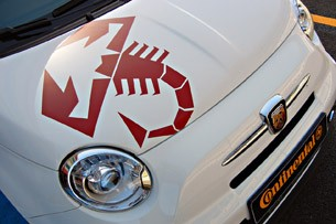 2012 Fiat 500 Abarth front detail