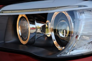 2011 BMW 1 Series M Coupe headlights