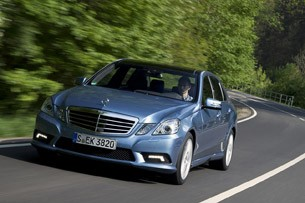 2012 Mercedes-Benz E550 Sport driving