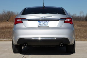 2011 Chrysler 200 rear view