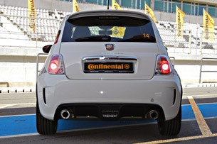 2012 Fiat 500 Abarth rear view