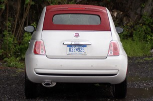 2012 Fiat 500C rear view