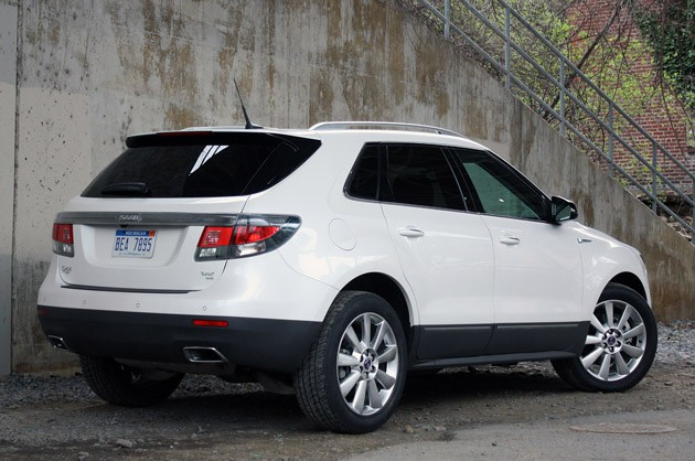 2011 Saab 9-4X rear 3/4 view