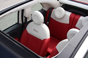 2012 Fiat 500C top view
